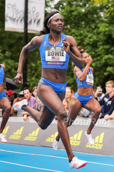 Oscuro acerca de Tumba  Weekend Roundup – USA Track & Field – News – Tori Bowie runs world best  150m at adidas Boost Boston Games