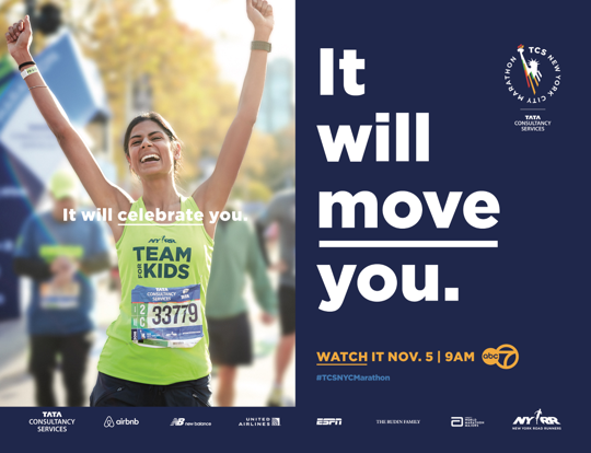 The TCS New York City Marathon Launches 'It Will Move You