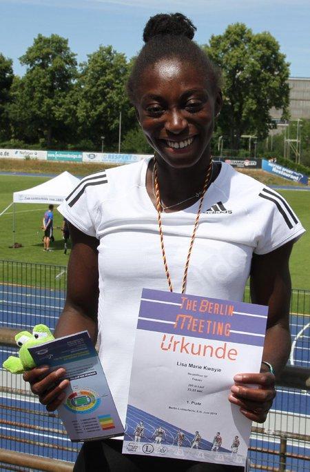 Marie nackt lisa kwayie Leichtathletik
